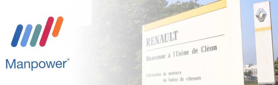 MANPOWER recrute pour RENAULT CLEON des agents de fabrication automobile, conducteur de lignes et cariste
