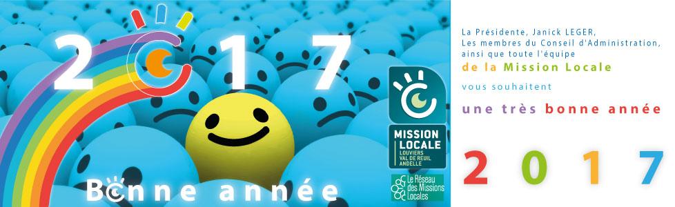 La Mission Locale vous souhaite une bonne année 2017