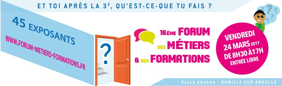 16ème Forum des Métiers & des Formations