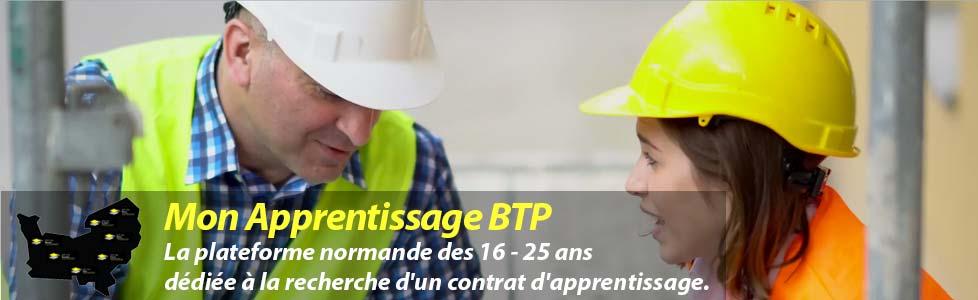 Mon Apprentissage BTP – La plateforme normande des 16-25 ans dédiée à la recherche d'un contrat d'apprentissage.