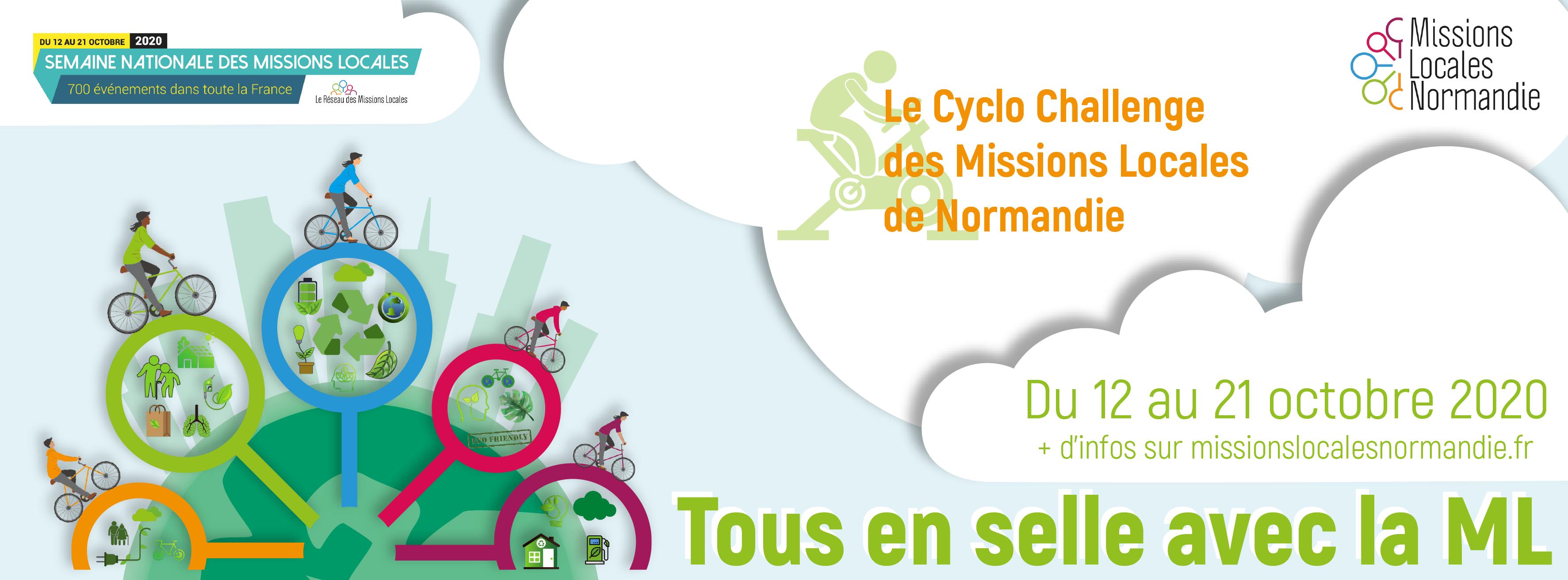 SEMAINE NATIONALE DES MISSIONS LOCALES et CYCLO CHALLENGE ML NORMANDIE